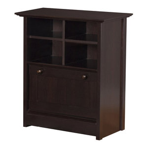 Winsome Wood Transitional Walnut Composite Wood File Cabinet - Transitional - Filing Cabinets ...