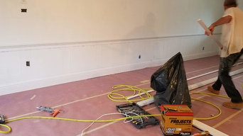 Wainscoting Design, Painting and Floor Refinish With Custom Color Stain
