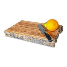 "WhiskeyMade Bourbon Barrel Butcher Block/Cutting Board, 16.5"""