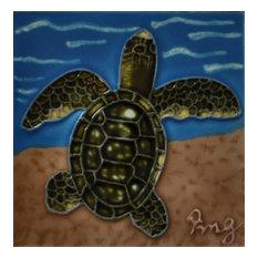 Sea Turtle #4 Tile