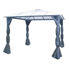 10'x10' Aluminum Hardtop Gazebo, Roof Panels, Sunshade, Mosquito Netting