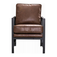 New Pacific Direct Inc. - Ford Arm Chair, Trail Brown - Armchairs and Accent Chairs