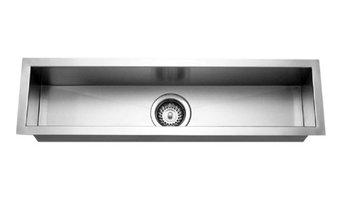 Houzer CTB-3285 Trough Bar/ Prep Undermount Sink with Bottom Grid and Strainer