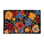 "Everywhere Pansies Accent Rug, Multicolor, 1'8""x2'9"""