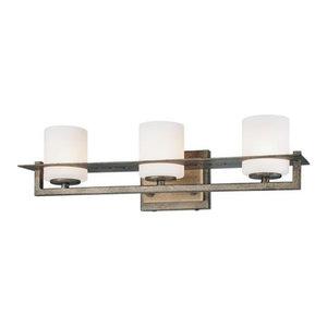 Minka Lavery Compositions 3-Light Bathroom Lighting Fixture, Spanish Iron