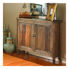 Uttermost Altair Reclaimed Wood Console Cabinet Gray