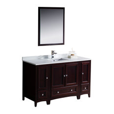 "Fresca Oxford 54"" Mahogany Traditional Bathroom Vanity"