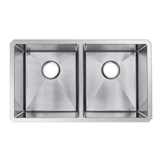 starstar   undermount double bowl 16 gauge 304 stainless steel kitchen sink 31x18x10   kitchen 18 inch kitchen sinks   houzz  rh   houzz com