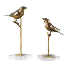 Uttermost Passerines Bird Sculptures, Set of 2