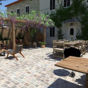 Rénovation  complète d'une Terrasse à Morainvilliers