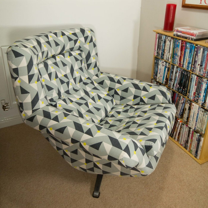 Restoration of 60's swivel chair