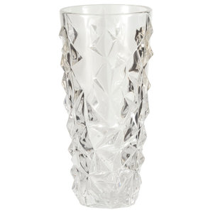 Carats High Ball Clear Table Vase, Large