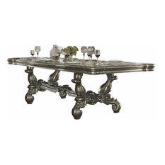 Acme Versailles Dining Table Antique Platinum
