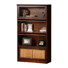 Eagle Furniture Promo 4-Door Lawyer Bookcase, Caribbean Rum