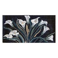 Stunning Calla Lilies Mosaic Murals