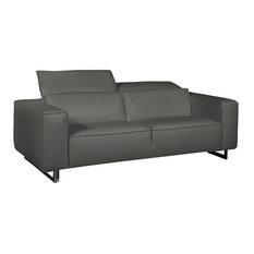 Giadia Loveseat Dark Gray Adjustable Neck Rest Cushions