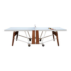 RS# Folding Ping Pong Table, White