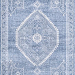 "nuLOOM - nuLOOM Persian Distressed Isla Traditional Area Rug, Blue, 2'8""x8'Runner - Made from the finest materials in the world and with the uttermost care, our rugs are a great addition to your home. Features Style: Traditional, Vintage Material: 100% Polypropylene Weave: Machine Made Origin: Turkey Note: All rug sizes are approximate. Due to the difference of monitor colors, some rug colors may vary slightly. We try to represent all rug colors accurately."