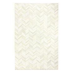 Bashian Langdon Area Rug, White, 5'x8'