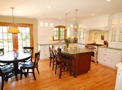 Painting Kitchen Cabinets White In Room With Lots Of Wood Trim