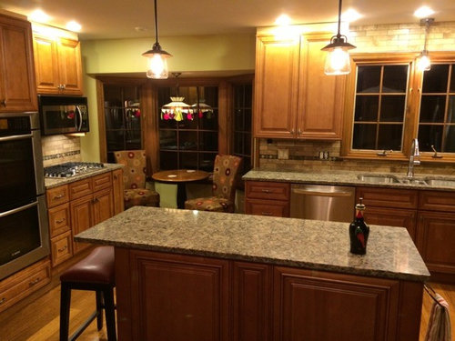 Latest RTA Toffee Kitchen Cabinets Done By Lily Ann Cabinets