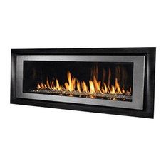 """Superior DRL6554TEN 54"""" Direct Vent Electronic Linear Fireplace, Natural Gas"""