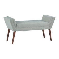 Altman Upholstered Bench With Mist Woven Fabric Seat
