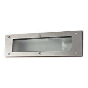 Silbo Recessed Outdoor Wall Light, Stainless Steel, LED