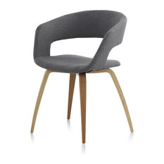 Avilés Grey Upholstered Chair, Set of 4