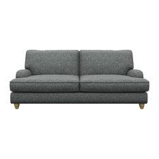 Prague 3-Seater Sofa, Grey