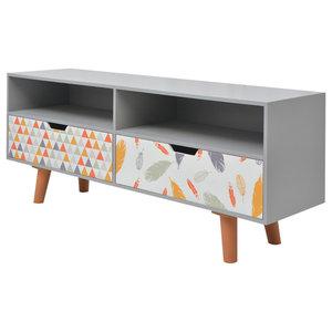 vidaXL Printed TV Cabinet, 120x30x50 cm, Grey