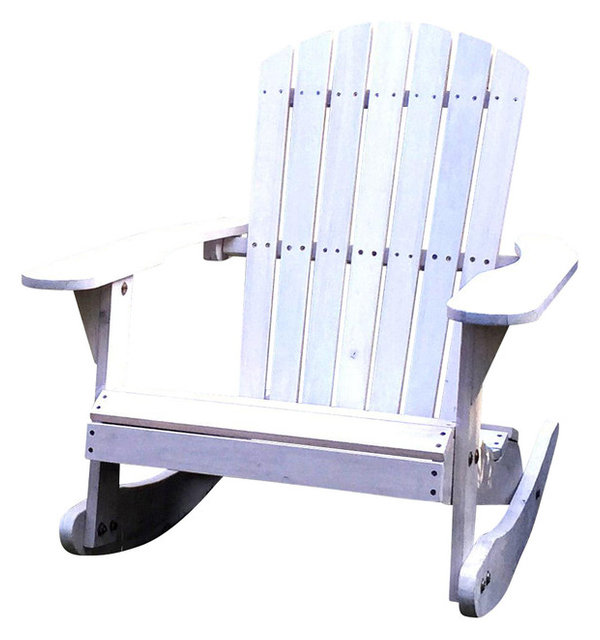 pelican hill wood adirondack patio rocking chair white beach