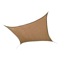 16'/4,9 m Square Shade Sail, Sand, 160 GSM