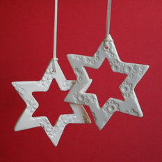 - Vintage button window star - Christmas Ornaments
