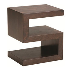 S Side Table, Chocolate   Side Tables And Accent Tables