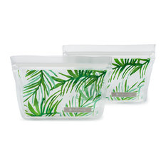 ZipTuck Reusable Snack Bags, Set of 2, Palm Leaves
