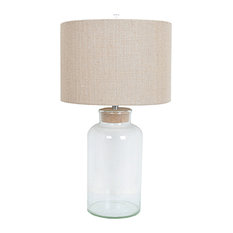 """Keep Sake Table Lamp, 30"""" Height, Clear Glass Finish"""