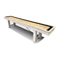 Playcraft Montauk Shuffleboard Table in Weathered Whitewash, 12'