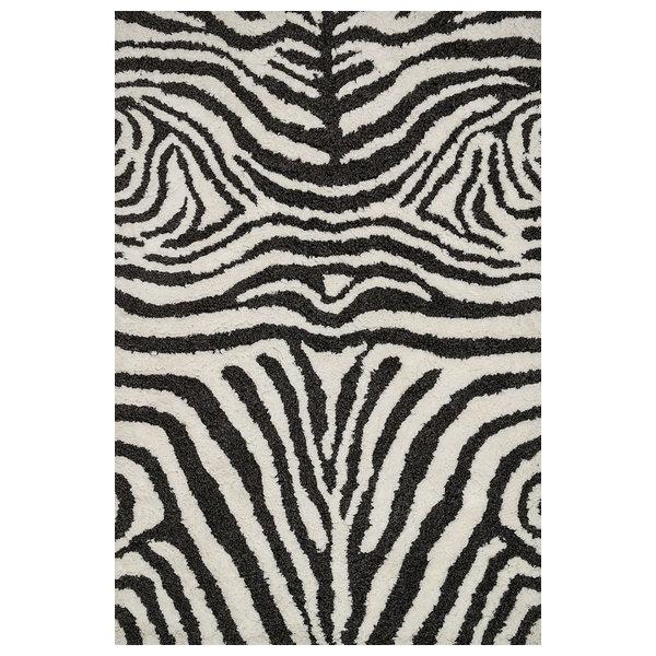 Loloi Kiara Shag Ivory-Charcoal 7'9