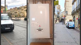 Pose de chaudière à condensation à haute performance énergétique