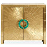 Jonathan Adler - Talitha Cabinet, Brass - Our beloved Talitha Cabinet gets a Midas and malachite makeover.