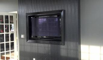Recessed TV install