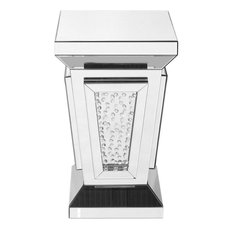 15-inch Crystal End Table Clear Mirror Finish