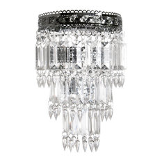 faux crystal chandeliers  houzz, Lighting ideas