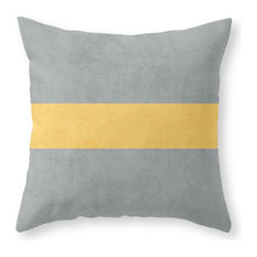 "Society6 Gray and Yellow Cl, Throw Pillow, Indoor Cover, 18""x18"", Pillow Insert"