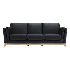 Ceni 3-Seater Sofa, Espresso and Natural