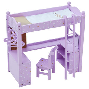 Olivia's Word Wooden Double Bunk Bed and Desk