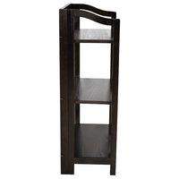 Yu Shan Stratford Folding Bookcase, Espresso, 3 Shelves