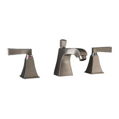 """Severo 3-Piece 8"""" Widespread Lavatory Faucet With Drain, Brushed Nickel"""