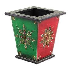 Grand Allure Decorative Wood Vase